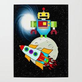Moon Walk Children's Art Poster