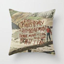 Ramblin' Man Throw Pillow