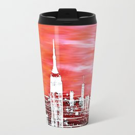 Abstract Red In The City Design Travel Mug
