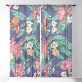 Matthew Williamson tropical flowers Sheer Curtain