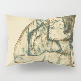 "Egon Schiele ""Female nude with raised shirt"" Pillow Sham"