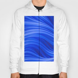 Flow Strand. Endless Blue. Abstract Art Hoody