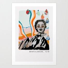 Boulder Colorado Poster Art Print