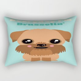 Brussels Griffon Rectangular Pillow