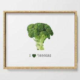 Broccoli - I love veggies Serving Tray