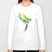 military Long Sleeve T-shirts featuring Military Macaw by ARealpe