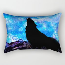 NIGHT WOLF Rectangular Pillow