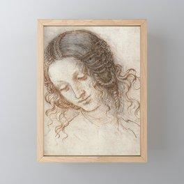Leonardo da Vinci - Head of Leda Framed Mini Art Print