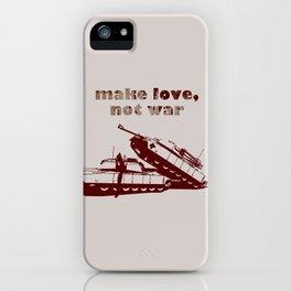 Make love, not war! iPhone Case