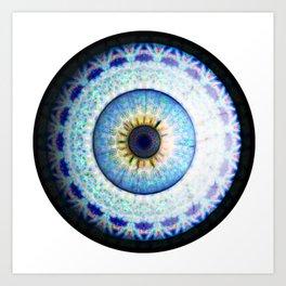 Blue Ceramic  Eyball Jewel Art Print
