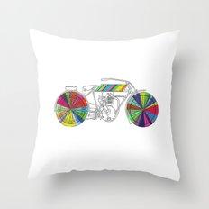 Rainbow Cycle Throw Pillow