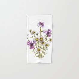 Iris and daisy flowers Hand & Bath Towel