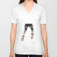 1989 V-neck T-shirts featuring mj 1989, the shot I by Jen Hynds