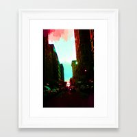 detroit Framed Art Prints featuring Detroit by Casalmon