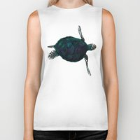 sea turtle Biker Tanks featuring Sea Turtle by Ben Geiger