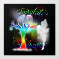fairytale Canvas Prints featuring Fairytale by Augustinet