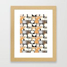 Staring Cats Framed Art Print
