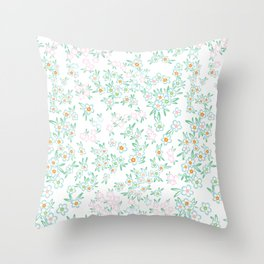 Forget me nots on white - in memory... Throw Pillow