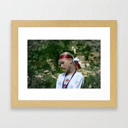 Slavic girl  Framed Art Print