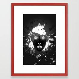 Glasses off Shot (Invert) Framed Art Print