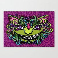 cheshire Canvas Prints featuring CHESHIRE by AZZURRO ARTS