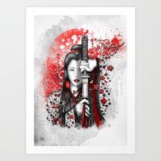Katsumi - victorious beauty Art Print
