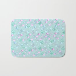 Floating Blocks Pastel Abstract Bath Mat