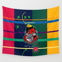 The Angry Art Collector Wall Tapestry