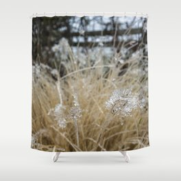 Icicles on Ornamental Grass, No. 1 Shower Curtain