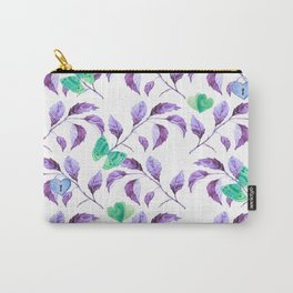 Passionately Purple Spring Time Daze - Bagaceous Carry-All Pouch
