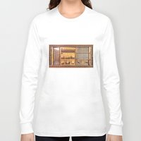 transistor Long Sleeve T-shirts featuring Vintage Wall Radio by jculver