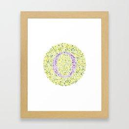 """""""O"""" Eye Test Letter Circle Framed Art Print"""