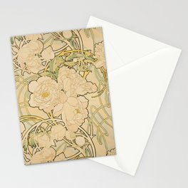 Alfons Mucha - Peonies (1897) Stationery Cards