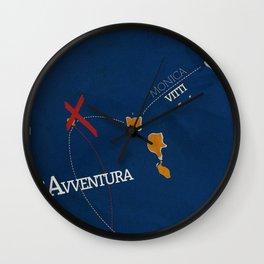 L'avventura, Monica Vitti, Michelangelo Antonioni, italian cinema, film, sea adventures, hollywood Wall Clock