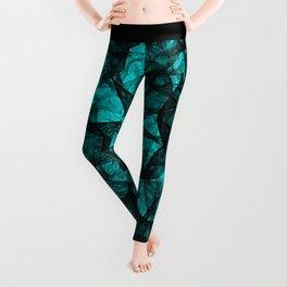 Fractal Art Turquoise G52 Leggings