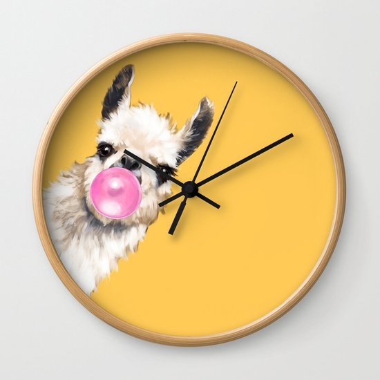 Bubble Gum Sneaky Llama in Yellow by bignosework
