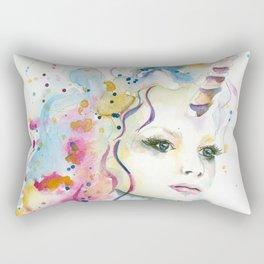 Unicorn Woman Rectangular Pillow