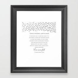 1 Corinthians 13:8 - Love Never Fails - Marriage Bible Wedding Verse Art Print Framed Art Print