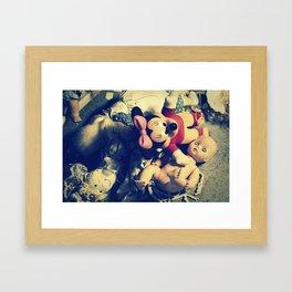 Doll Heap Framed Art Print