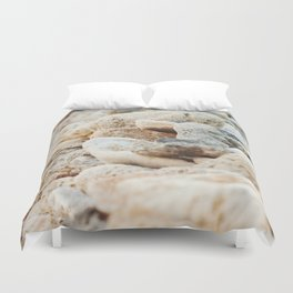 Coral Wall Duvet Cover