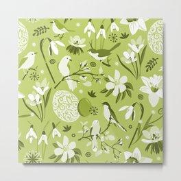 Finally Easter! [mono green] Metal Print