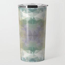 """Flowerbed"" triangles design Travel Mug"
