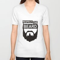 wwe V-neck T-shirts featuring RESPECT THE BEARD TSHIRT DANIEL T SHIRT BRYAN WWE TOP TEE WWF WRESTLING FUNNY. by jekonu