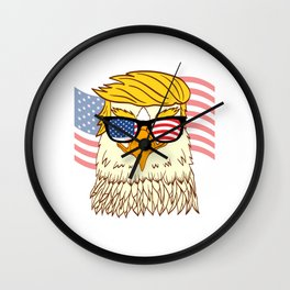 Donald Trump 2020 Eagle Bird Campaign For President T-shirt Design Presidency Politics White House Wall Clock