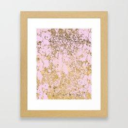 Pale Pink and Gold Patina Design Framed Art Print