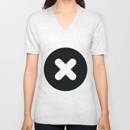 croix et rond Unisex V-Neck