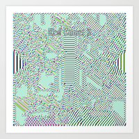 Red Comet 3 'Holographic Static' Art Print