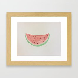 SUMMER WATERMELON  Framed Art Print