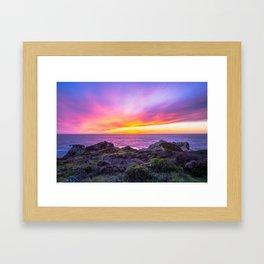 California Dreaming - Brilliant Sunset in Big Sur Framed Art Print