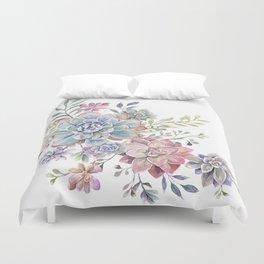 succulent watercolor 6 Duvet Cover